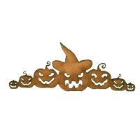 Scary Pumpkin Border MDF Wood Shape