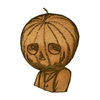 Pumpkin Head MDF Wood Shape