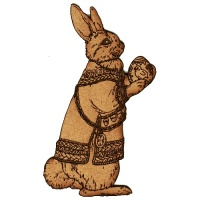 Rabbit with Easter Egg MDF Wood Shape