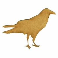 Walking Raven - MDF Wood Bird Shape