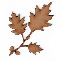 Red Oak Leaf and Twig MDF Wood Shape
