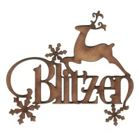 Blitzen - Decorative MDF Wood Words