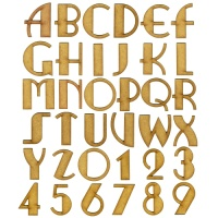 MDF Letters & Numbers - Ritzy Font
