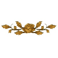 Rose with Leafy Vines - Flora & Fauna Flourish Style 15