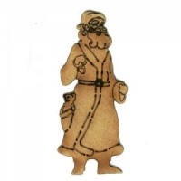 Tall Slim Santa - MDF Wood Shape