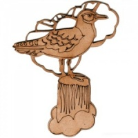 Seagull on Pier MDF Wood Bird Shape