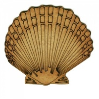 Scalloped Seashell - MDF Wood Shape Style 2