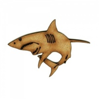 Great White Shark MDF Wood Shape - Style 1