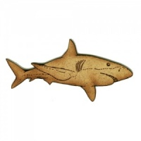 Great White Shark MDF Wood Shape - Style 4