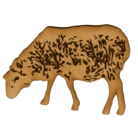 Sheep Grazing MDF Wood Shape