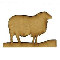 Mountain Sheep MDF Wood Shape