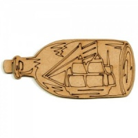 Ship in a Bottle MDF Wood Shape - Style 1