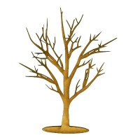 Skeleton Tree MDF Wood Shape - Style 9