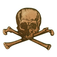 Skull & Crossbones MDF Wood Shape