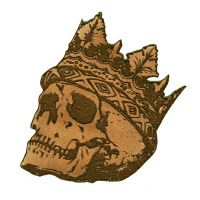 Skull wearing Crown MDF Wood Shape