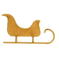 Sleigh Silhouette - MDF Wood Shape Style 1