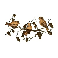Songbird Trio on Spring Branch MDF Wood Shape
