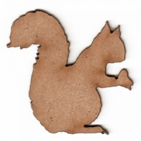 Squirrel Silhouette - MDF Wood Shape Style 1