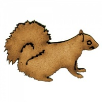 Squirrel with Curled Tail - MDF Wood Shape