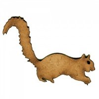 Squirrel Scurrying - MDF Wood Shape
