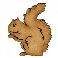 Squirrel Nibbling - MDF Wood Shape