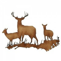 Group of Deer MDF Wood Shape Style 6