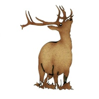 Bellowing Stag MDF Wood Deer Shape Style 11