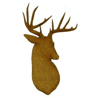 Stag Head Silhouette - MDF Wood Shape