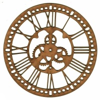 Steampunk Clock Face - MDF Wood Shape