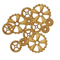Steampunk Mechanical Cogs Motif Style 10
