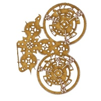 Steampunk Mechanical Clockworks Motif Style 12