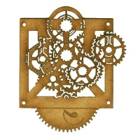 Steampunk Mechanical Clockworks Motif Style 19