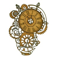 Steampunk Mechanical Clockworks Motif Style 20