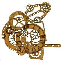 Steampunk Mechanical Clockworks Motif Style 25