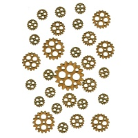 Sheet of Mini MDF Wood Cogs - Style 12