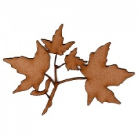 Sugar Maple Leaf and Twig MDF Wood Shape