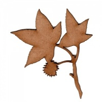 Sweetgum Leaf and Twig MDF Wood Shape