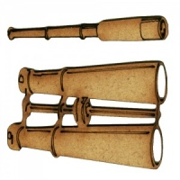 Telescope & Binoculars MDF Wood Shape Set