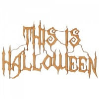 This Is Halloween - MDF Wood Words