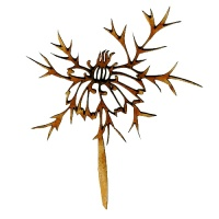 Thistle Flower MDF Wood Shape