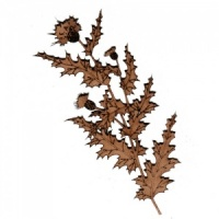 Thistle Flower Branch MDF Wood Shape - Style 2