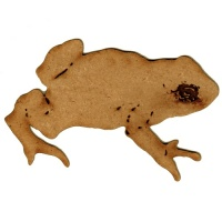 Toad Silhouette - MDF Wood Shape Style 1