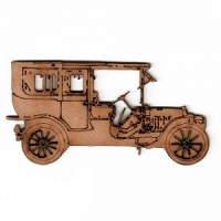 Vintage Car MDF Wood Shape Style 3
