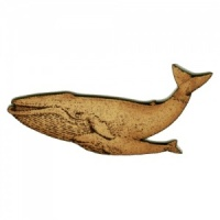 Blue Whale & Calf MDF Wood Shape