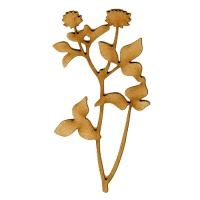 Wildflower MDF Wood Shape