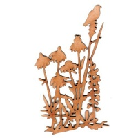 Wildflowers, Grass & Bird MDF Wood Shape