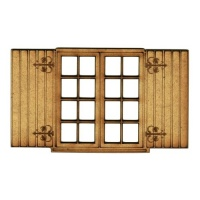 Shuttered Window - MDF Wood Shape