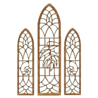 Stained Glass Window Set - MDF Wood Shape
