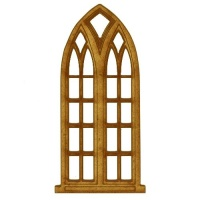 Gothic Stone Window - MDF Wood Shape