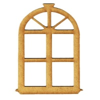 Styled Window - MDF Wood Shape